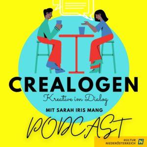 Podcast Crelaogen Bild. Gefördert von Kultur Niederösterreich